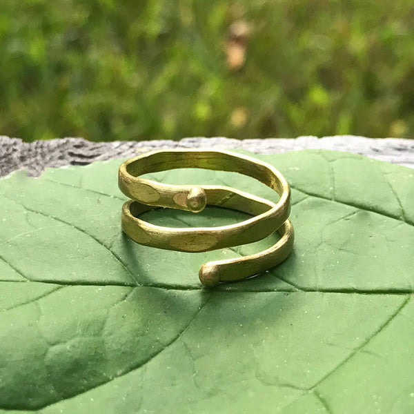 Fair trade adjustable ring handmade in India by women
