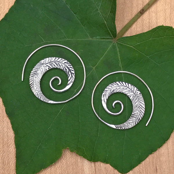 Sterling silver handmade earrings fair trade Thailand