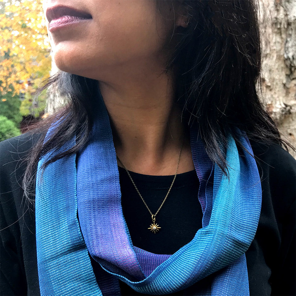 Fair trade star necklace handmade in India