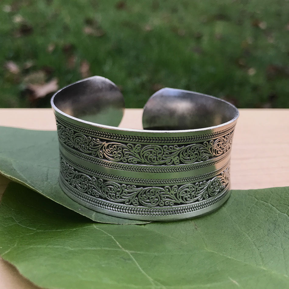 Fair Trade Miao silver bracelet handmade by survivors of human trafficking