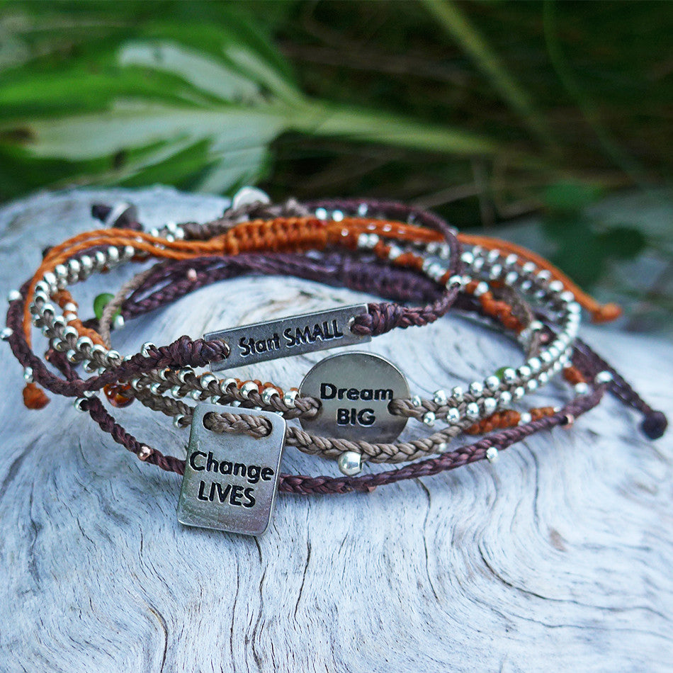 Start Small, Dream Big, Change Lives Bracelet Set, Guatemala