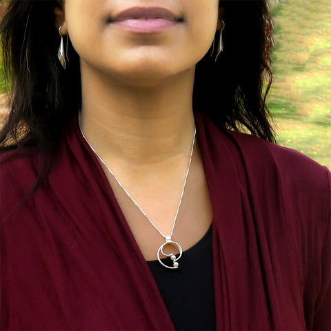 Fair trade sterling silver pearl necklace