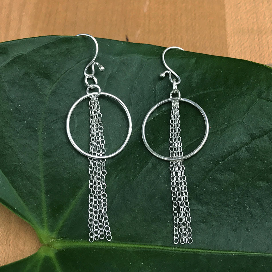 Full Circle Earrings - Sterling Silver, Indonesia