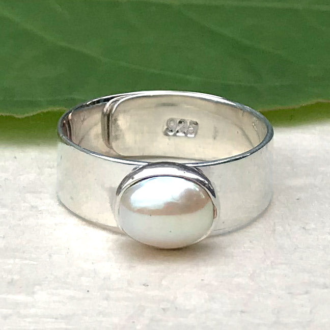 Fresh Water Pearl Ring - Sterling Silver, Peru