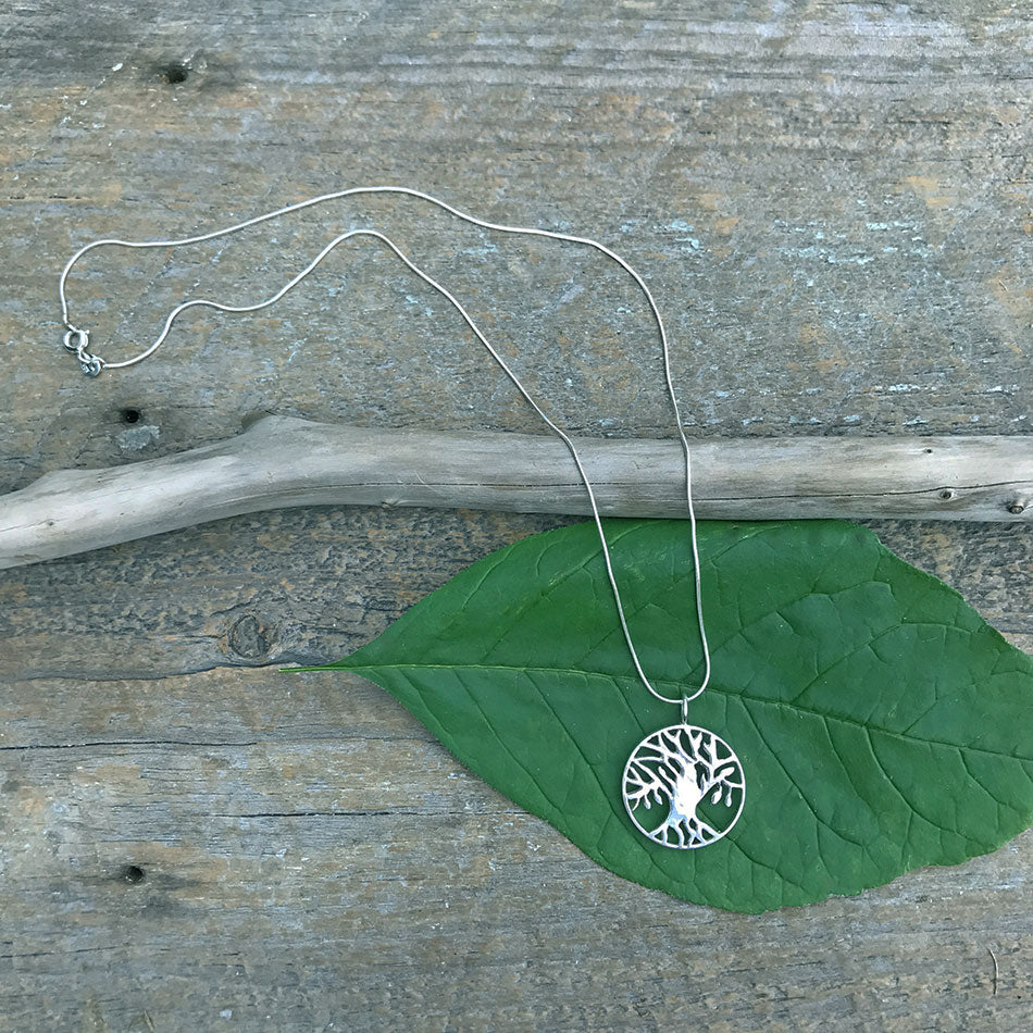 Tree of Life Silver Necklace - Sterling Silver, India