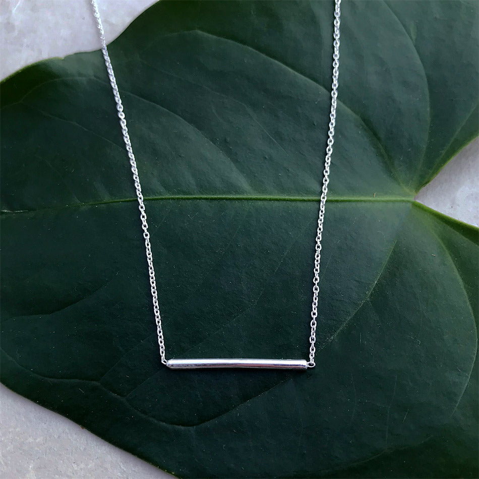 Sterling silver fair trade necklace handmade by women in India