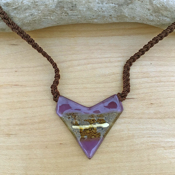 Straight to the Heart Necklace - Purple, Guatemala