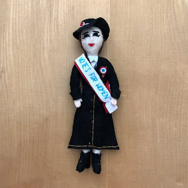Suffragette fair trade handcrafted figurine.