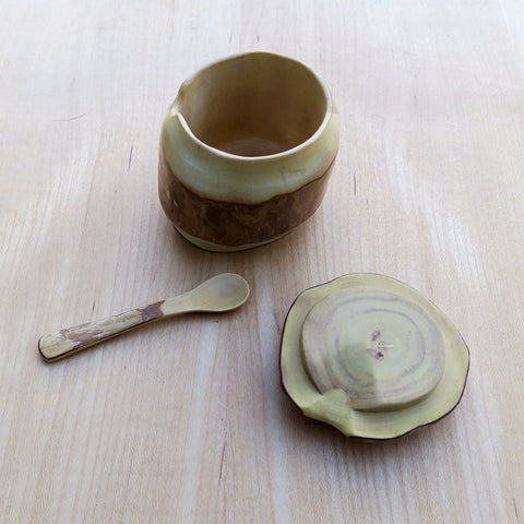 Fair trade wood sugar bowl