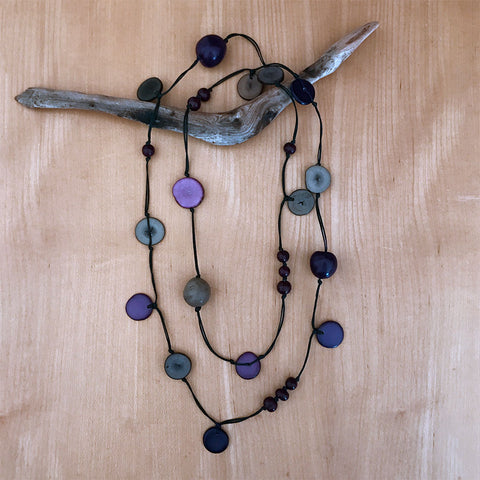 Tagua nut fair trade necklace handmade in Colombia