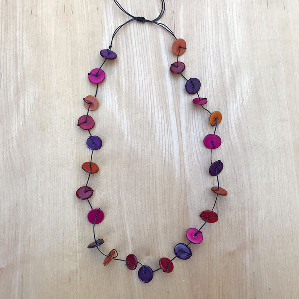 Tagua Single/Double Strand Necklace - Multicolor, Colombia