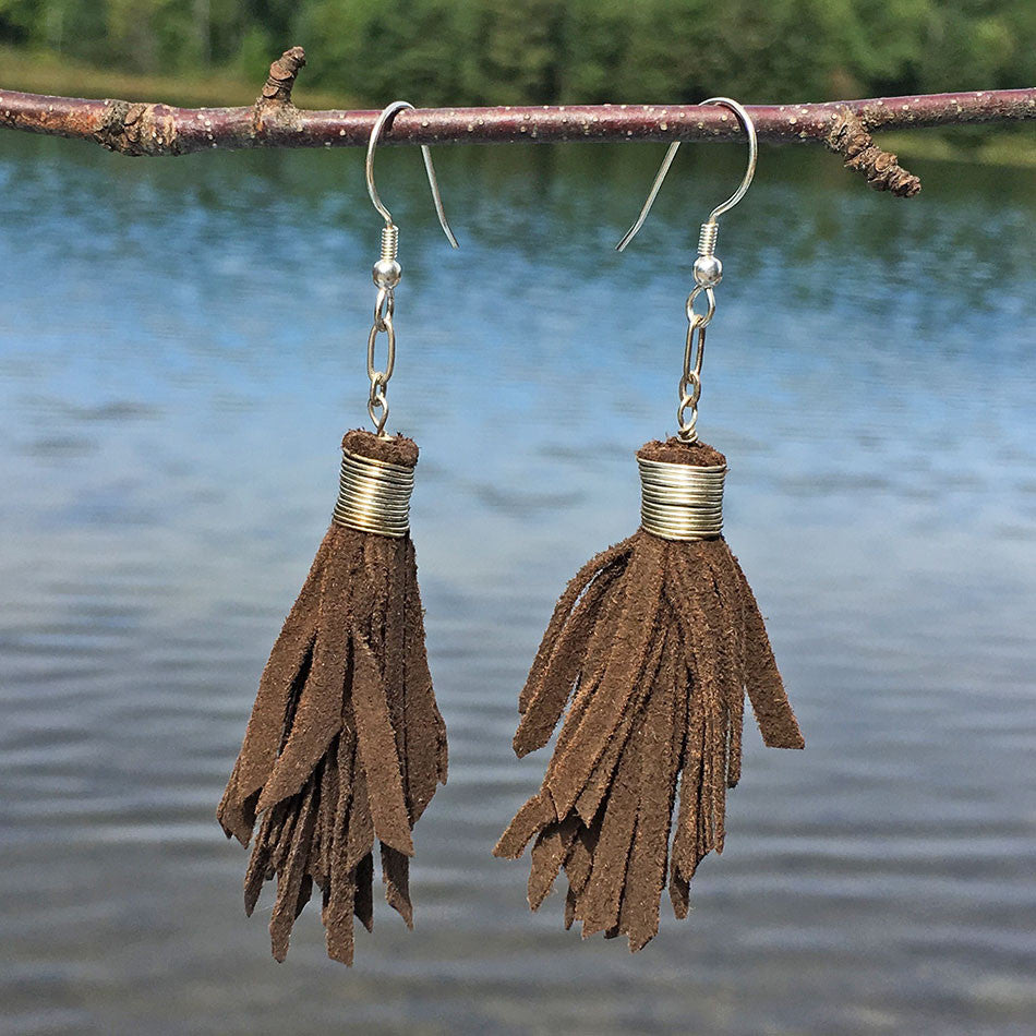 fair trade tassle earrings handmade by women in India
