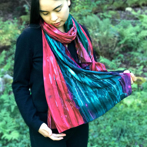 Fair trade batik scarf handmade in Bali