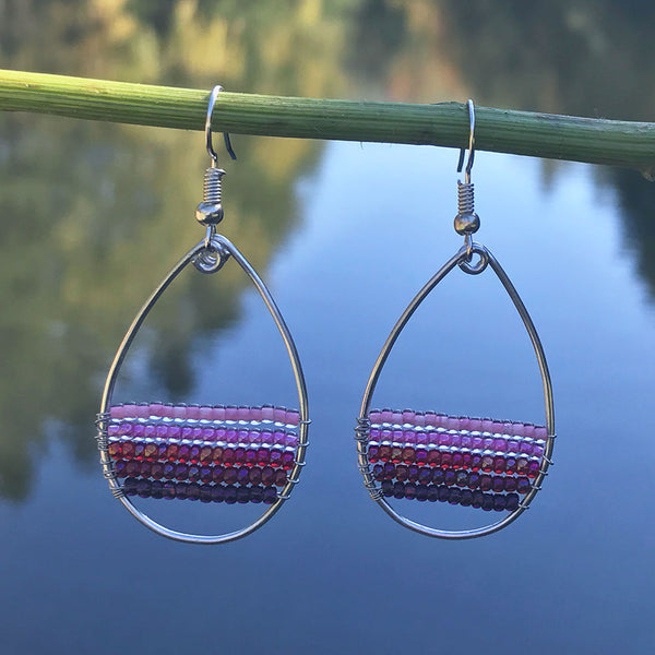 Beaded fair trade earrings Guatemala