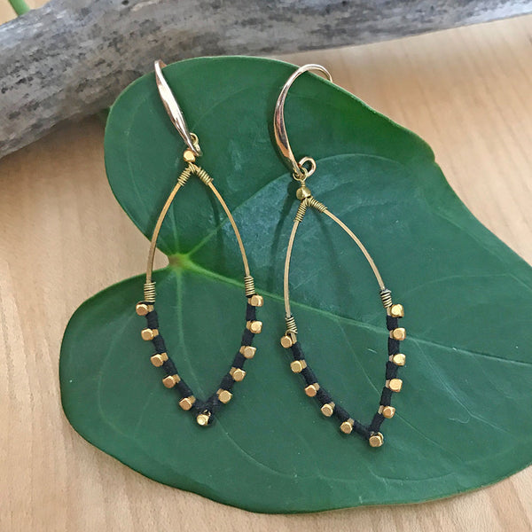 Fair trade earrings handmade by women in Thailand