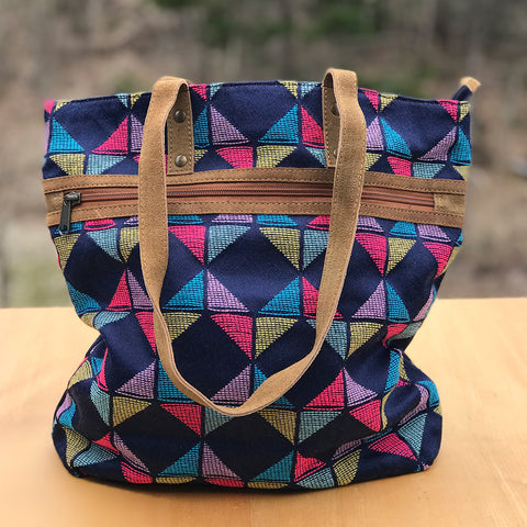 Fair trade tote bag handmade by women artisans in India