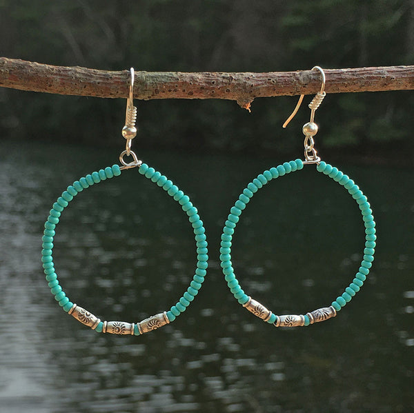 Circle of Life Earrings - Turquoise, Guatemala