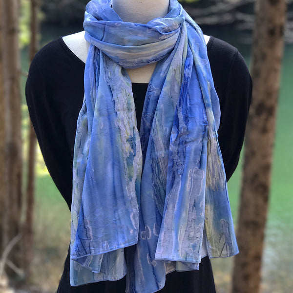 Watercolor Scarf/Wrap - Caribbean Blue, Bali