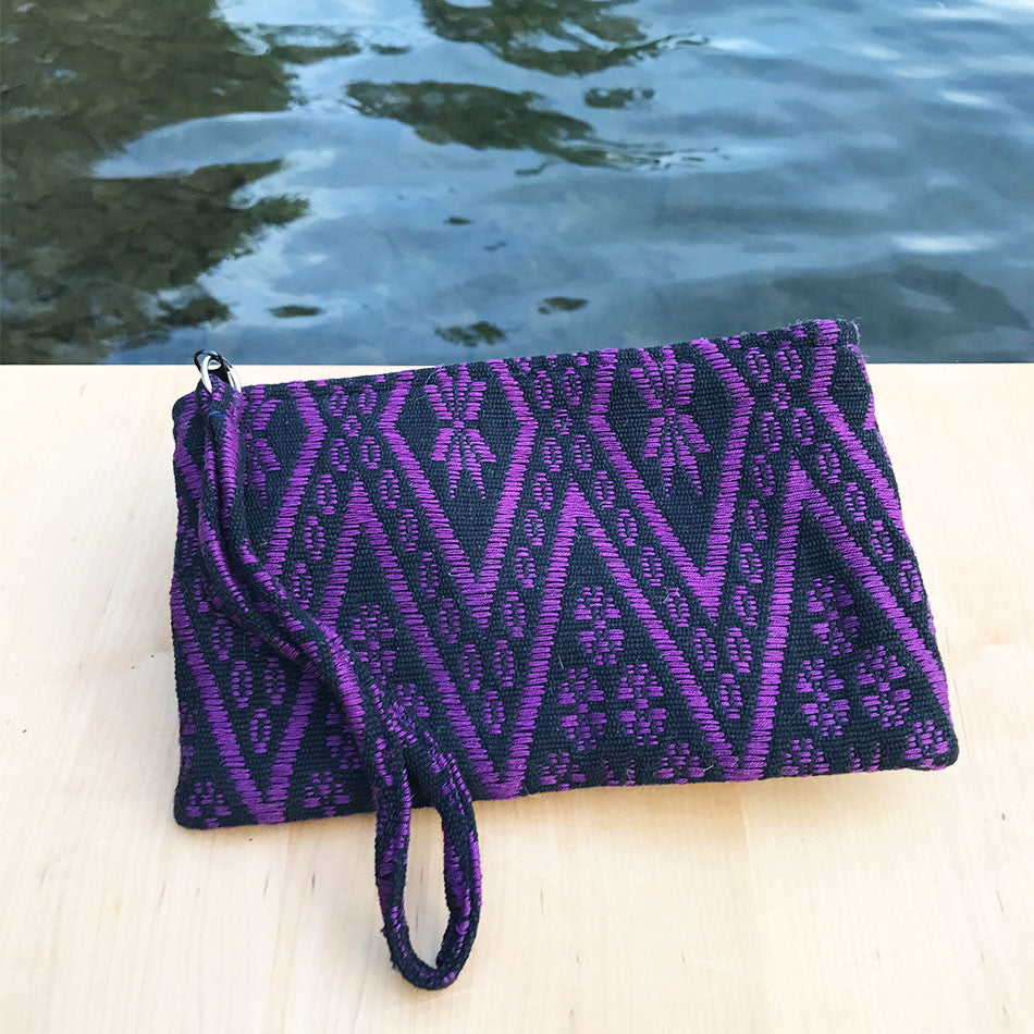 Fair trade handwoven clutch from Guatemala