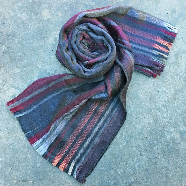 Luxurious Alpaca Scarf - Red Stripe, Ecuador