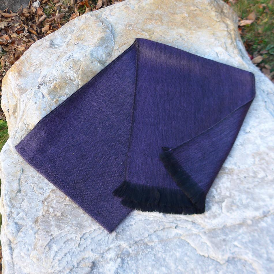 Luxurious Alpaca Scarf - Plum, Ecuador