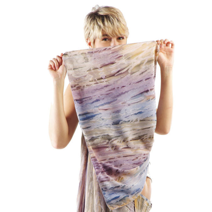 Watercolor Scarf/Wrap - Water's Edge, Bali