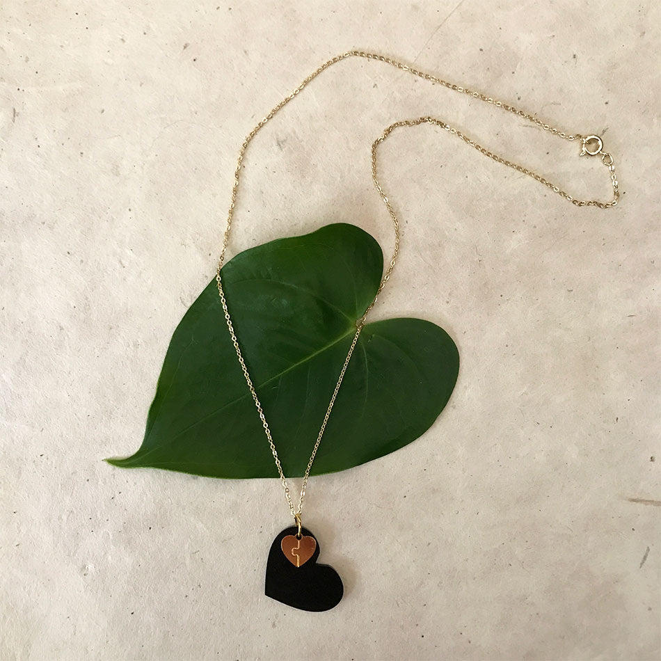 Fair trade heart necklace handmade in Colombia