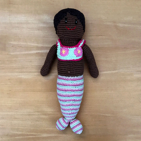 Fair trade mermaid toy handmade by women in Bangladesh