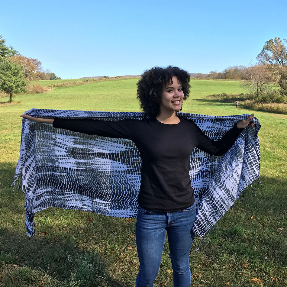 Fair trade scarf handmade by refugees in Kenya