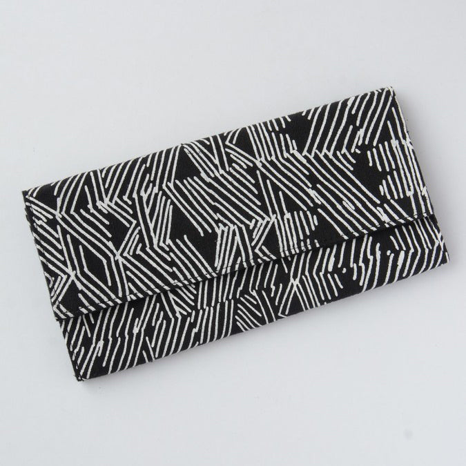 Whimsical Clutch Wallet - Zig Zag, Cambodia