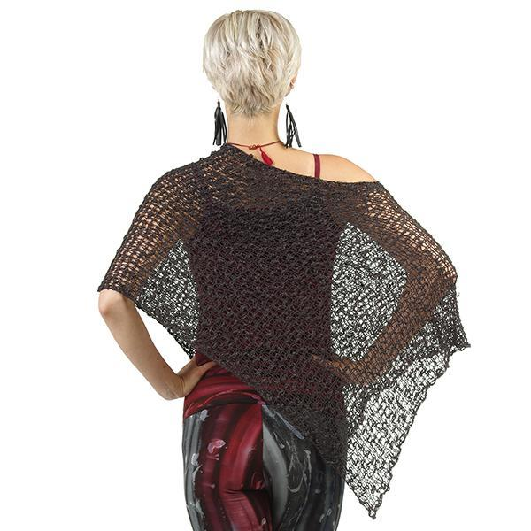 Crocheted Poncho - Black, Bali