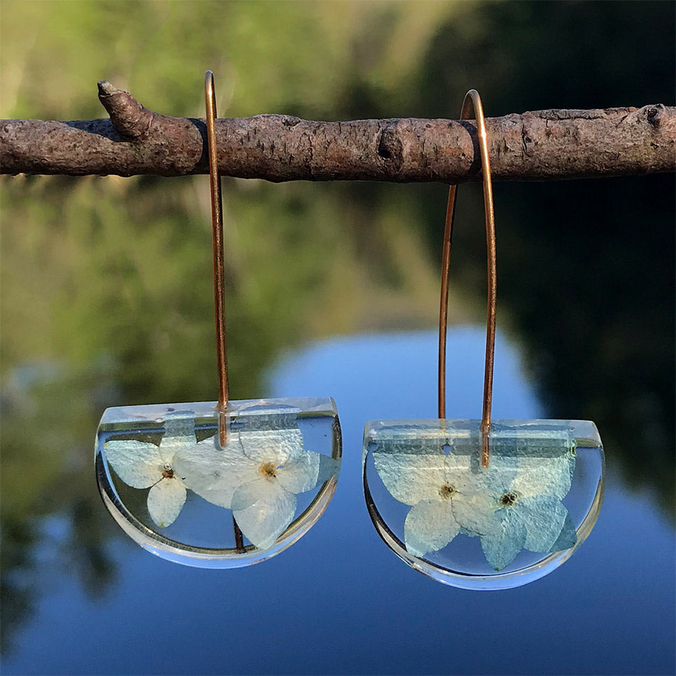 Forget Me Not Botanical Earrings, Colombia