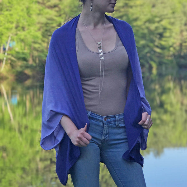 Organic Cotton Shrug - Blue, India