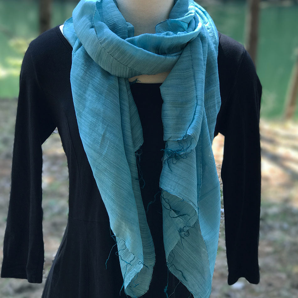Silk cotton fair trade scarf handmade in Vietnam