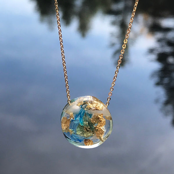 Fair trade eco friendly necklace handmade by women artisans in Colombia