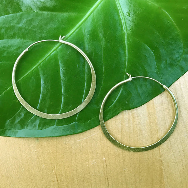 fair trade hoop earrings handmade by women in India