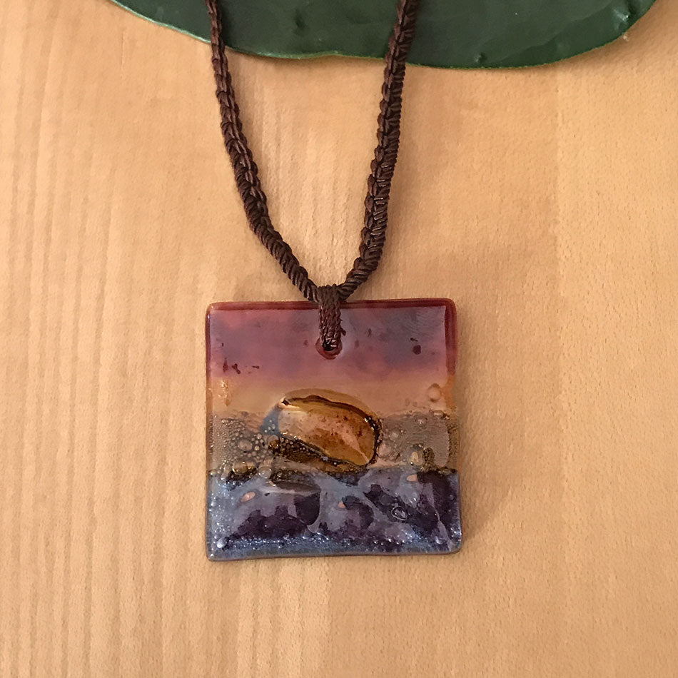 Fair trade glass necklace handmade in Guatemala