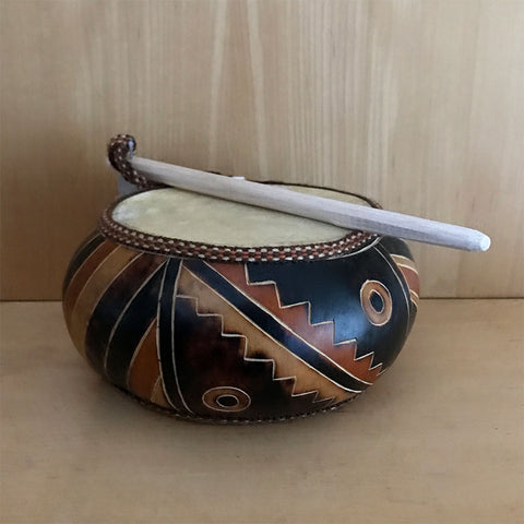 Fair trade drum handmade by artisans in Peru