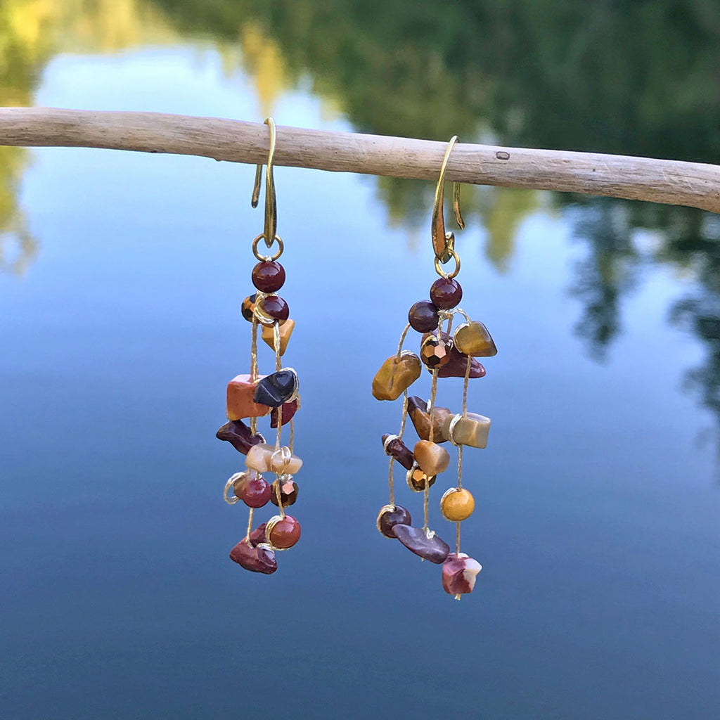 Floating Earrings - Earth, Thailand