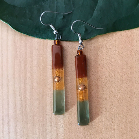 Fair trade glass earrings handmade in Guatemala