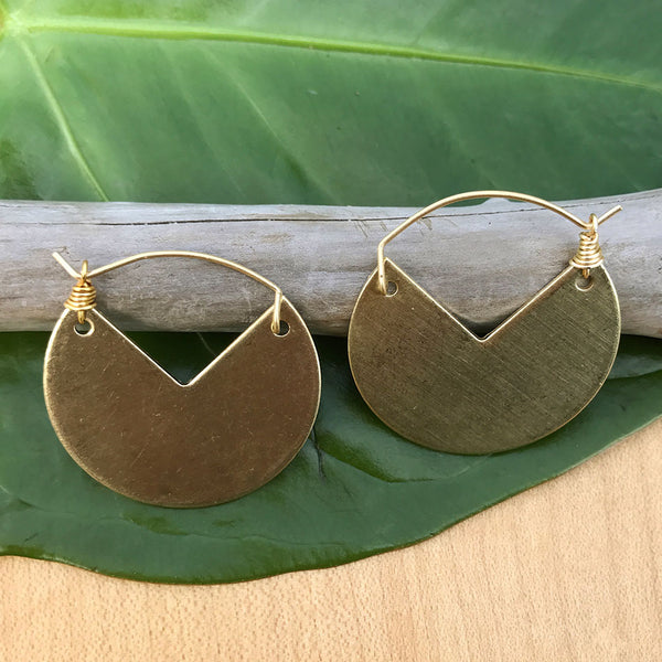 A Cut Above Earrings -Gold, Guatemala