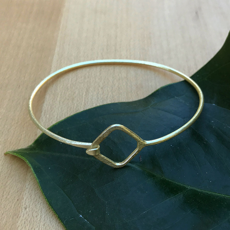 Fair Trade brass bracelet handmade in India