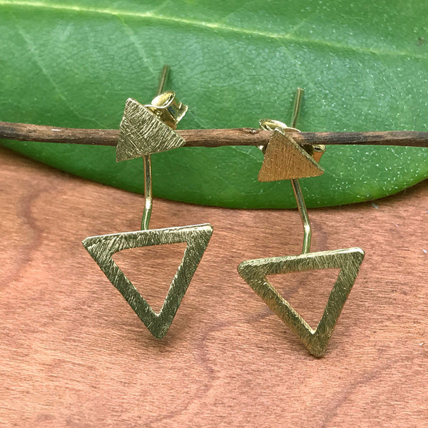 Trendy Triangle Ear Jackets, Thailand