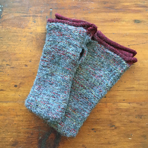 Fair trade alpaca fingerless gloves handmade in Peru