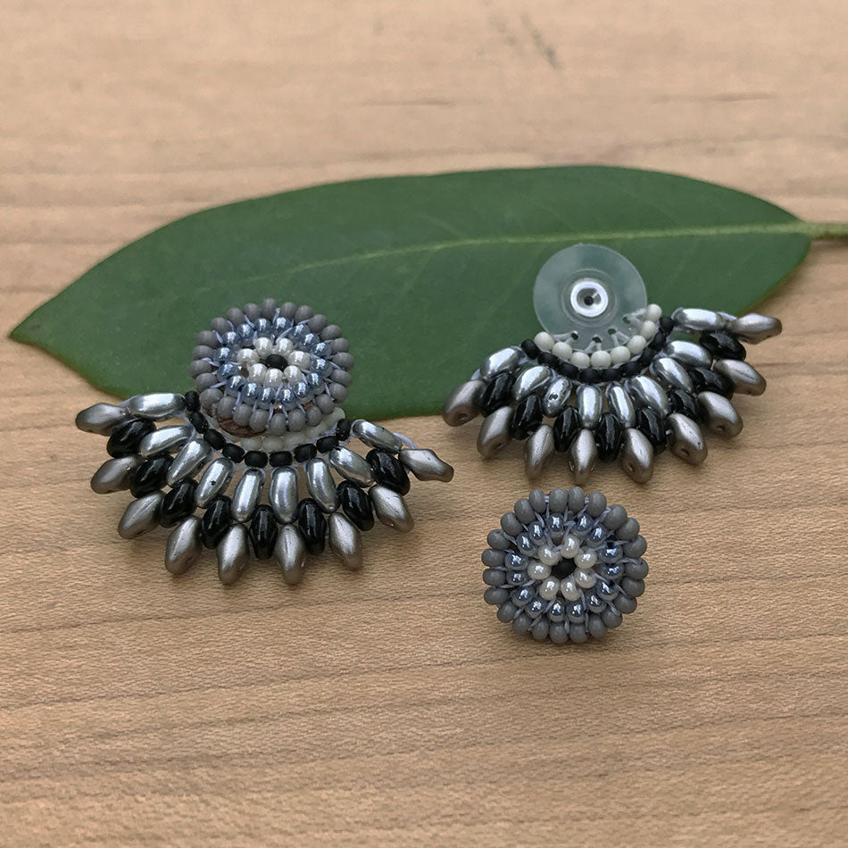 Fan Earrings - Silver, Guatemala