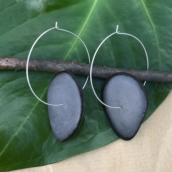 Tagua Eco Hoops -Gray, Colombia