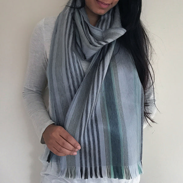 Luxurious Alpaca Scarf - Subtle Stripe, Ecuador