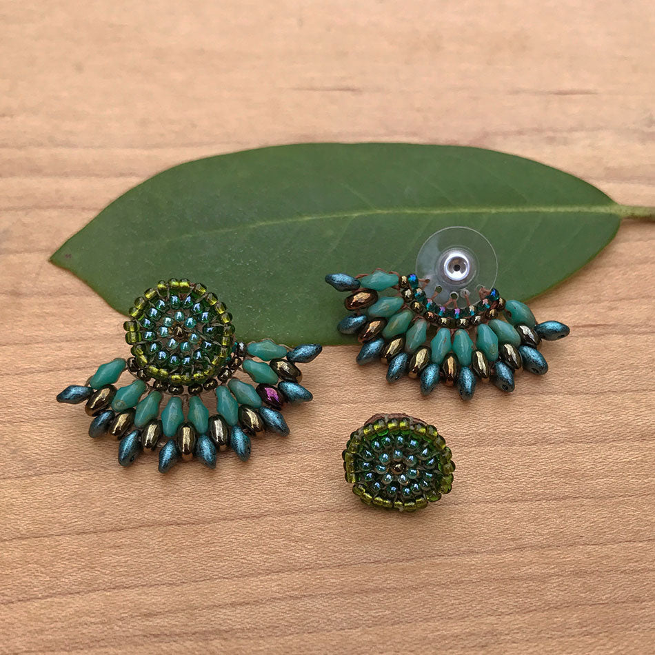 Fair trade bead earrings handmade by women in Guatemala