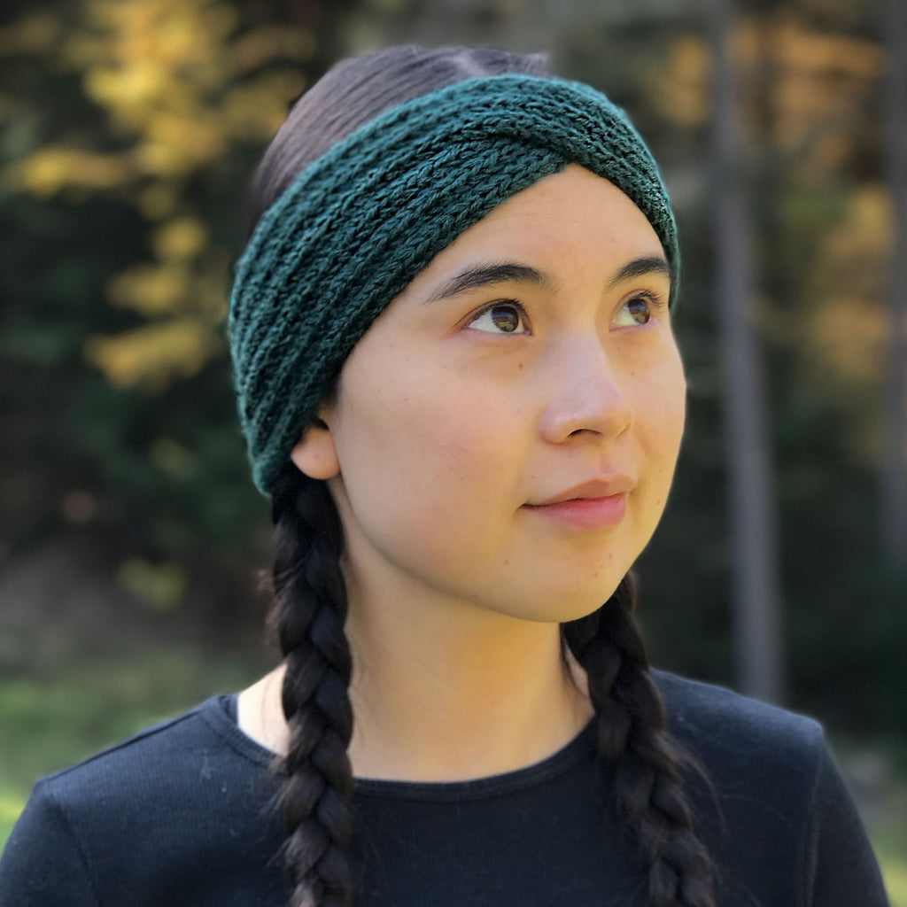 Fair trade alpaca headband handmade in Peru