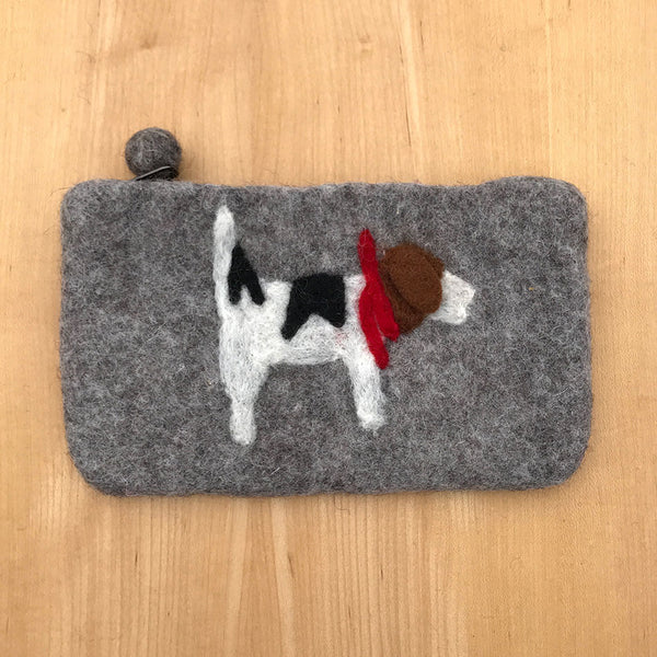 Fair trade felt purse toy handmade by women in Nepal